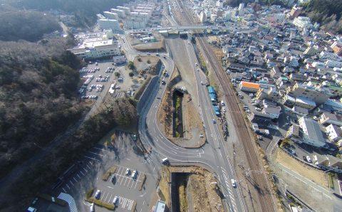 三函台山線 街路工事(道路改良)  いわき市